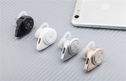 Wholesale Free High Quality Music - Black A9 Mini Wireless 360 Degree High-quality Stereo Music V4.0 Bluetooth Version Headset Hand-Free Earphone with Mic For iphone Samsung