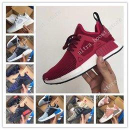 Wholesale Plastic Canvas Kids - Mens & Womens NMD XR1 Glitch Black White Blue Camo Runing Shoes Adult And Children Men Women Baby Kids Runing Shoes Eur 36-45 free shipping