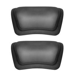 Wholesale Soft Bathtub - Wholesale- PU Dark Gray NEW Bathtub Pillow Headrest Waterproof Pillows Bathroom Supplies Suction Cup Spa Comfortable Soft