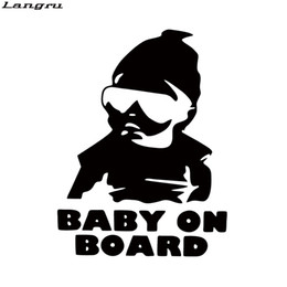 Wholesale Car Decals Baby Board - New Style Baby On Board Funny Cute Car Styling Hangover Car Motorcycle Decorative Vinyl Decal JDM