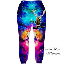 Wholesale Painting Graphics - Wholesale-2016 New Fashion Men Joggers Pants 3D Graphic Galaxy Space Casual Sweatpants Male Hip Hop Paint Trousers Size S-XL