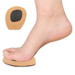 2 пары женщин высокий каблук кожа массаж Pad стопы плюсневой Pad мяч ног стельки дополнительный комфорт анти скольжения колодки от