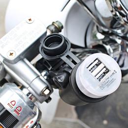 Fusíveis para motocicletas on-line-2016 CS-020 12 V Motocicleta Guiador Montado Soquete de Energia USB Universal Carregador de Soquete de Energia de Cobre Dupla Saída USB com fusível