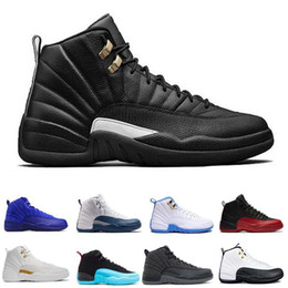 Wholesale Soccer Shoes Gs - 2017 air retro 12 Men Basketball Shoes ovo white GS Barons TAXI Flu Game gamma blue Playoffs French Blue wolf grey Varsity red