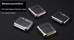 Argentina 2016 Nuevo lujo Blowout prevención 18 K chapado en oro reloj funda protectora cubierta de la vivienda para Apple Watch iWatch G1 38 mm 42 mm Suministro