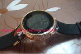 Wholesale Diamond Digital Watches - Luxury Wristwatch Mens Digital Rose Gold Diamond Watch 4 Ct YA114207 Quartz Mens Watches Men's Watch Top Quality
