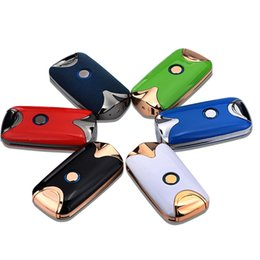 Wholesale Induction Lighters - Intelligent USB Induction Arc Dual Fire Ignition Arc Lighter Digital Refill Charging Metal Windproof No Gas Cigarette Smoker Gift