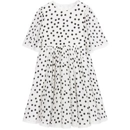 Wholesale Toddlers Polka Dots Dresses - W.L.MONSOON Robe Enfant Girls Costumes Princess Dress 2017 Brand Toddler Girls Summer Dresses Lace White Polka Dot Kids Clothes