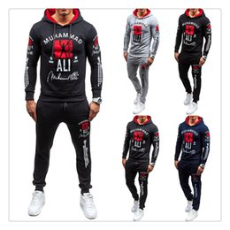 Wholesale Cotton Black Tracksuits For Men - Tracksuit for Men 2017 Hoodies+pants Brand Hoodie Slim Fit Men Hoody US Size:S-XXL