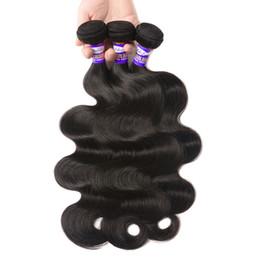 Rizado cabello humano de 34 pulgadas online-Peruvian Virgin Hair Body Wave Bundles Remy Hair 8-28 pulgadas Peruvian Natural Color 100 Extensiones de tejido de cabello humano Straight Deep Kinky Curly