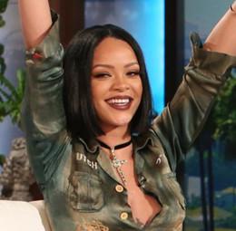 Wholesale Cheap U Part Lace Wigs - Rihanna Style Cheap Wigs Glueless Hair Bob Lace Wigs Straight Brazilian Human Hair Lace Front u Part wigs G-EASY