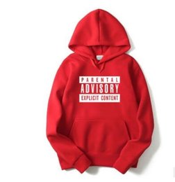 Wholesale Alphabet Designer - New designer Men and women hoodies hip hop Parental Advisory Explicit Content Alphabet printing tide card pink sweater man