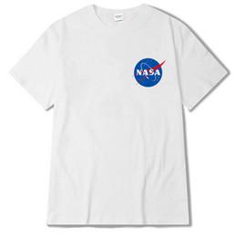 2019 camicie spaziali 2018 NASA spazio T Shirt Uomo Moda Estate Cotone Hip-Hop Tee Abbigliamento di marca Uomo donna Top camicie spaziali economici