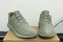 Wholesale Tan Women Boots - NEWEST KANYE MILAN 350 BOOST TANS MOONROCK PIRATE BLACK BOOTS LOW CUT 350 AQ2660 SNEAKERS ATHLETIC MEN WOMEN SHOES