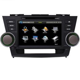 "Wholesale Stereo Toyota Highlander - 8"" Car DVD player with GPS(optional),USB SD,AUX,BT,car audio Radio stereo headunit for Toyota Highlander 2008 2009 2010 2011 2012 2013 2014"