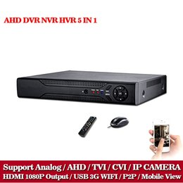 Wholesale Dvr Recorder Channel 3g - CCTV DVR 16CH Digital Video Recorder AHD 16 Channel AHD-NH 1080N Hybrid input Home Security 1080P HDMI Output Onvif P2P 3G WIFI