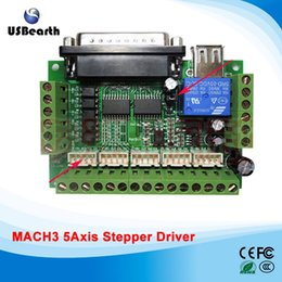 Wholesale Engraving Interface - MACH3 engraving machine interface board 5 axis stepper motor driver cnc interface board with optocoupler isolation