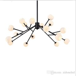 Wholesale Kitchen Chandeliers Shades - 2016 new Modern Golden Black Annulus chandelier Large 18 lights indoor ceiling chandelier lights with white frosted glass shade lantern
