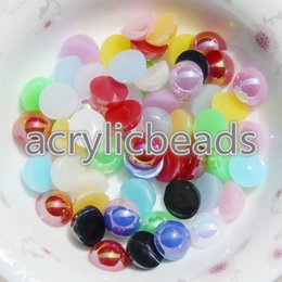 Wholesale Pearls Nail Art Heart - 1000PCS 1.5MM Half Round Acrylic AB Color Imitation Flatback Pearl Beads for Jewelry Making Decoration Nail Art Phone