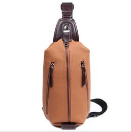 Wholesale Men Shoulder Waist Cross - Men Sport Bags Fashion Chest-bag Imitation Leather Shoulder Bag Wholesale Cross Body Waist Bags Drop Ship