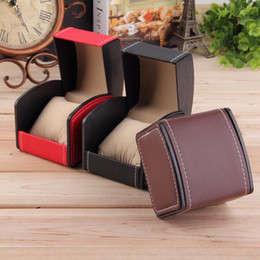 Wholesale Displays Case For Rings - New Luxury Watch Box Display Case Gift Boxes Genuine Leather Watch Box with Pillow Watch Packaging For Bangle Ring Earrings