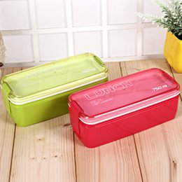 Wholesale Collapsible Storage Containers - New Design 750ml Collapsible Portable Food Storage Container Microwave Oven Lunch Bento Boxes Folding Lunchbox Eco-Friendly