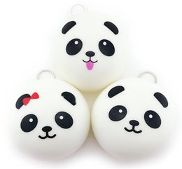 Wholesale Wholesale Old Cell Phones - 2017 New 10CM Cute panda Squishy Buns Bread Charms, Squishies Cell Phone Straps, Wholesale Free shipping kids toys b1441