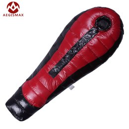 Wholesale Ultralight Sleeping Bag Down - Wholesale- AEGISMAX Ultralight Duck Down Sleeping Bag For Camping Nylon mummy winter Adult Outdoor Backpacking Hike 1000g-1300g-1500g
