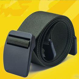 Wholesale Nylon Belts Plastic Buckles - Wholesale- 105cm Length Unisex outdoor Sports Quick Dry Nylon Plastic Buckle Belt Waist anti allergy Super Thin Men jeans Belts MB16317