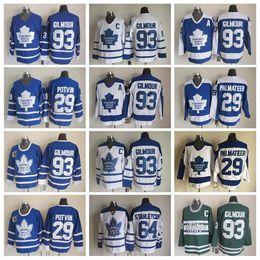 Wholesale Doug Gilmour - Top Throwback 93 Doug Gilmour Jerseys Men Toronto Maple Leafs Vintage Classic Hockey 64 Stanleycup 29 Felix Potvin 29 Mike Palmateer