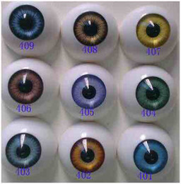 Wholesale toy eyeballs - 2017 Best selling Free shipping round shape lovely Fashion Doll eyes acrylic eyes bjd doll accesories reborn doll toys parts (8mm to 22mm)