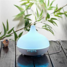 Wholesale Electric Aroma Lamps - 6 Color ultrasonic humidifier essential oil diffuser aroma lamp Aromatherapy electric aroma diffuser mist maker Home and office