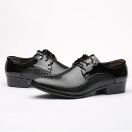 Wholesale Business Dress Tips - Men 's suits shoes British business casual shoes Korean version of the tip of the young black cross - border increase