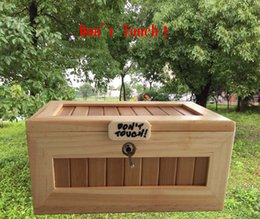 Wholesale Cute Pink Gift Box - Upgrade Wooden Electronic Useless Box with Sound Cute Tiger 20 Modes Funny Toy Gift Stress-Reduction Desk Decoration