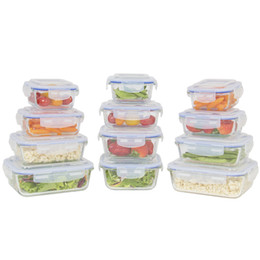 24 partes Assorted vidro armazenamento recipiente conjunto W / tampas BPA-Free de
