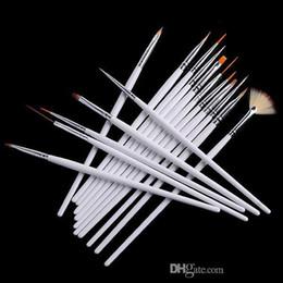 Wholesale Nail Art Brush Set Dhl - 16pcs set Nail Art Brush Set Painting Dotting Design White Pen DHL Free 500