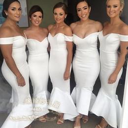 Vestidos de cóctel de tenis online-Barato Nueva Moda Sirena Vestidos largos de noche 2016 fuera del hombro Corte tren Formal Prom Vestidos de fiesta Vestidos de cóctel personalizados