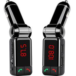 2019 haut-parleur bluetooth anglais Chaude Voiture Lecteur MP3 Bluetooth Transmetteur FM Modulateur FM Sans Fil Kit De Voiture Mains Libres LCD Affichage Chargeur USB pour iPhone Samsung