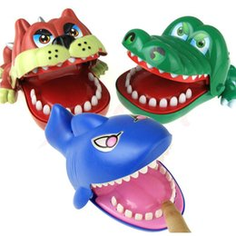 Wholesale Cool Mouth - Cool Large Bulldog Crocodile Shark Mouth Dentist Bite Finger Game Funny Novelty Gag Toy for Kids Children Play Funny Toys