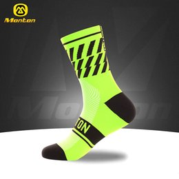 Wholesale Socks For Hiking - New Monton Men Cycling Socks High Elasticity Outdoor Sports Wearproof Bike Footwear For Road Bike socks calcetines ciclismo