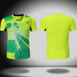 Wholesale Victor Shirt - New Victor Badminton shirt Men Women , Badminton tshirt ,Badminton wear t-shirt 3072