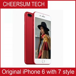 Wholesale Red Housing - original screen without fingerprint iphone 6 in 7 style 4.7 5.5 inch 16GB 64GB 128GB iphone 6 refurbished in iphone 7 housing Cellphone