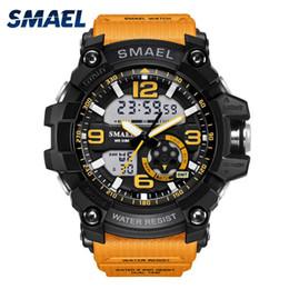 Wholesale Men S Watch Dual Time - S Shock Military Watches Army Men's Wristwatch LED Quartz Watch Digtial Dual Time Men Clock 1617 reloj hombre Sport Watch Army