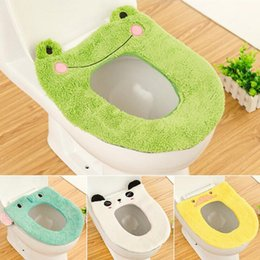 Wholesale Toilet Seats Covers Soft - Warm, Soft & Comfy Cute Cartoon Washable Toilet Seat Pad Covers Velvet Toilet Seat Mat Plush Toilet Seat Cushion