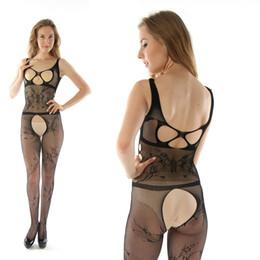 Wholesale Open Crotch Uniform Lingerie - Sexy Costumes New Hot Women Sexy Lingerie Open Bra Crotch Crotchless Underwear Hot Erotic Sleepwear erotic lingerie 8699