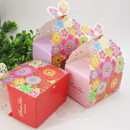Wholesale Gift Box Pattern Butterfly - Wedding laser engraving and joyful box color decorative pattern butterfly box perforations creative gift box,100pcs lot, 3 Colors For Option