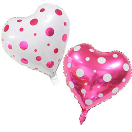 Wholesale Heart Foil - 50pcs lot 18 Inch Wedding Decoration Balloons Foil Heart balloons Inflatable Balls Baloes for Holiday Party Decoration Birthday