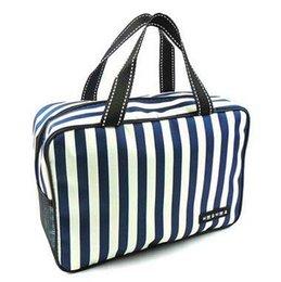 Canada 5 couleurs grande capacité rayures sacs de toilette sac de maquillage étanche Ms homme affaires voyage en plein air organisateur cosmétiques recevoir sac Offre