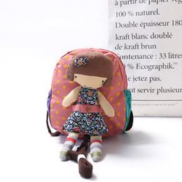 Wholesale School Backpack Bags For Kids - Cartoon Kids Nylon Backpacks Rag doll Mini schoolbag Anti lost knapsack for Children School Bags Girls Boys Backpack