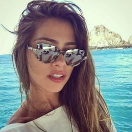 Wholesale Vintage Half Frame Sunglasses Wholesale - Wholesale- 2017 New Women Brand Designer Vintage Half Frame Protection Sun Glasses for Women Sexy Cat Eye Sunglasses Fashion Retro Eyewear